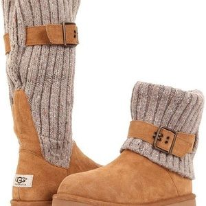 UGG Cambridge Cable Knit Shearling Boots 1003175